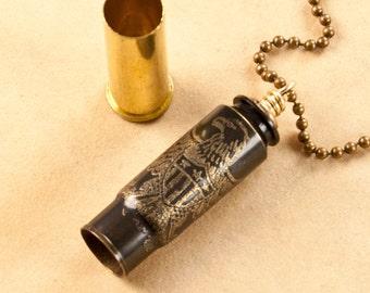 Time capsule bullet casing pendant - bullet pendant - Proud To Be American