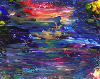 Dark River Acrylic Abstract Painting