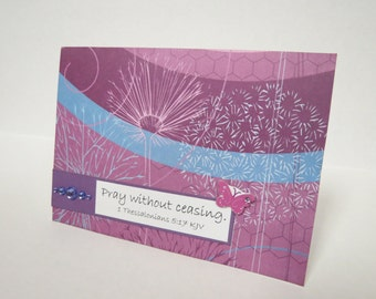 Pray Without Ceasing Christian Praying For You Card With Scripture
