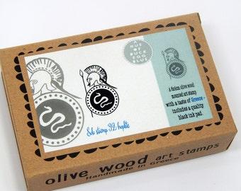 Greek Hoplite - Boxed Greece Inspired Stamp and Ink Pad