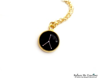 Constellation Zodiac Necklace For Her Astrology Gold