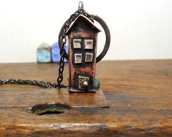 No19 Copper Town House  Necklace/Pendant