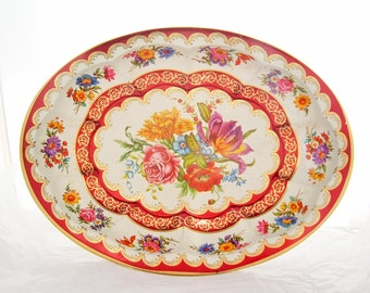 Floral Vintage tray Daher Decorated Ware Made In England