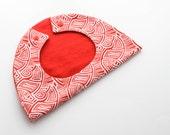 Geometric Print Red White Baby Girl Bib / Toddler Infant Bib Free Shipping Made in Israel by CasaDeGato