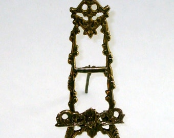 Vintage Doll House Ornate Miniature Easel Solid Brass