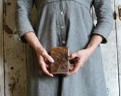 Shale + Mudrock: Vintage Brown Leather Handbound Journal