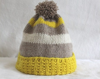 Cashmere Hand Knit Hat.  Ready to Ship!  woman's hat.  hand knit