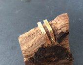 Sterling silver earring with 24ct gold leaf keumboo,  hallmarked in Edinburgh