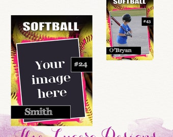 PSD Softball Trading Card Template