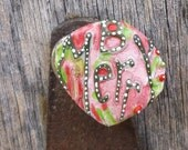 Christmas Pin, Be Merry Pin, Funky Xmas, B Merry Pin, Upcycled Pin Recycled Bent Bottle Cap Merry Xmas Pin  shipping included