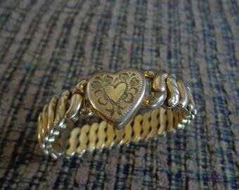 Vintage La Mode Gold Bracelet, Gold Bracelet, Antique Gold Bracelet, La Mode Bracelet, Vintage Gold Bracelet, Bracelet, Vintage Bracelet