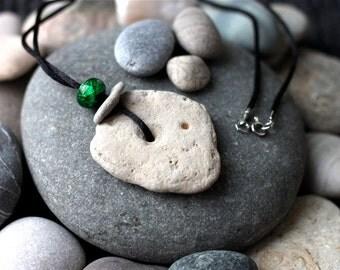 Natural Statement Necklace - Mindfulness Jewelry - Fossil Pendant - Odin Stones -  Lake Winnipeg Stone Necklace- Protective Pendant