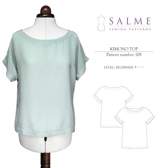 PDF Sewing pattern - Kimono top