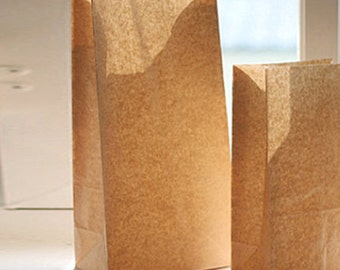 30 Basic Kraft Paper Bags - L size (7.1 x 14in)