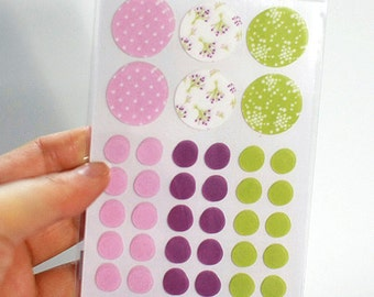 Circle Deco Masking Stickers - 01 Bouquet (3 x 4.3in) 4 sheets