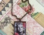Marilyn And Roses Pendant Necklace