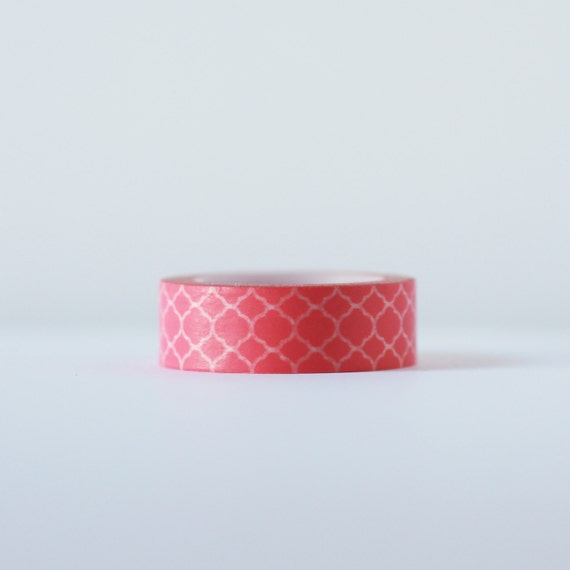 Moroccan Pink  Washi Tape-  Single Roll 15 mm x 10 m