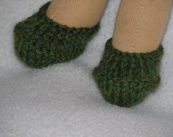 CUSTOM MADE Doll Shoes for 9 inch Doll hand knit in any color - shown is just a sample of colors many more to choose from