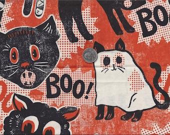 Scaredy Cats I Spy Halloween Spooktacular Cat Ghost Costume Fabric BTFQ Blend