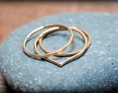Gold Stacking Ring Set of Three