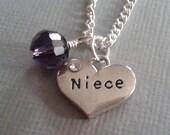Niece Charm Necklace