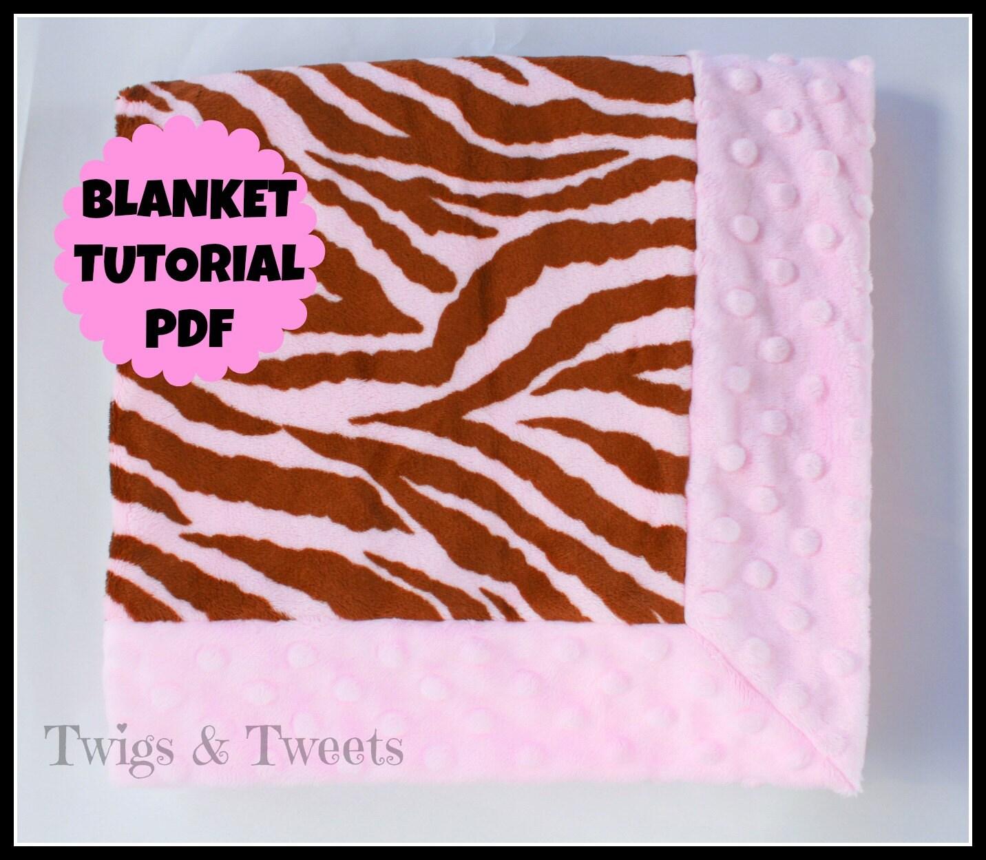 pdf pattern for self binding receiving blanket