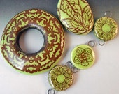 Lime Green Assortment including Large Donut Bead
