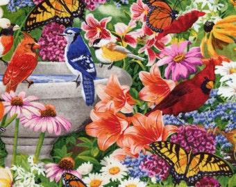Bird Bath - David Textiles Four Seasons - 1 yard - More Available - BTY