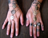 Silver and Chain Hand Pieces