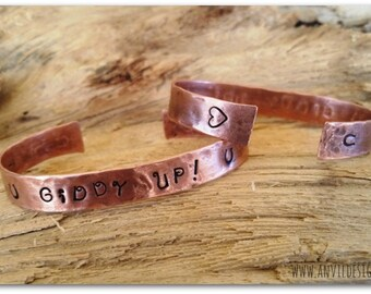 Custom Bracelet, Copper Bracelet, Your Saying, Your Words, Hand Stamped, Upcycled Copper, Bridesmaids Gift, Teacher Gift, OOAK Gift