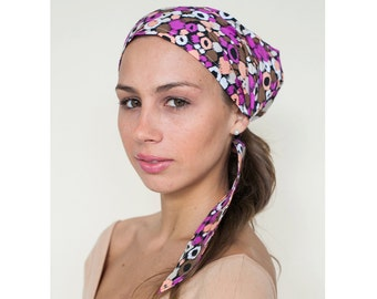 Beach Headscarf, Pink Head Scarves, Hair Coverup, Turban Head Wrap, Womens headscarves, Head Scarf, Gift for Her