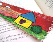 Painted Bookmark, Knock and the Door Shall Be Opened, Original Art Painting