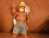 DAKIN SMOKEY BEAR figure-vintage-complete with tag-prevent forest fires