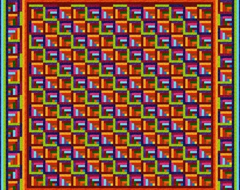 """ZAPPA -  115""""x 115"""" Large King or 103""""x 103"""" King - Quilt-Addicts Pre-cut Quilt Kit or Finished Quilt"""