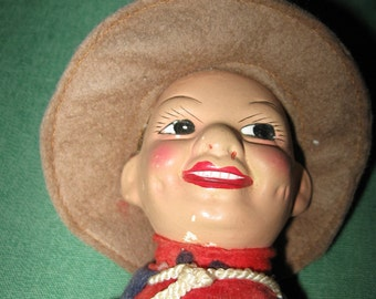Vintage NORAH WELLINGS Composition Cloth Canadian Mounty Mounted Police Doll