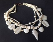 Exceptional Faux Ivory Les Bernard Multi Strand Necklace