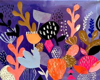Cactus Collage Art Print 11 x 14*
