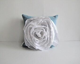blue pillow / blue throw pillow / girls room decor / shabby chic