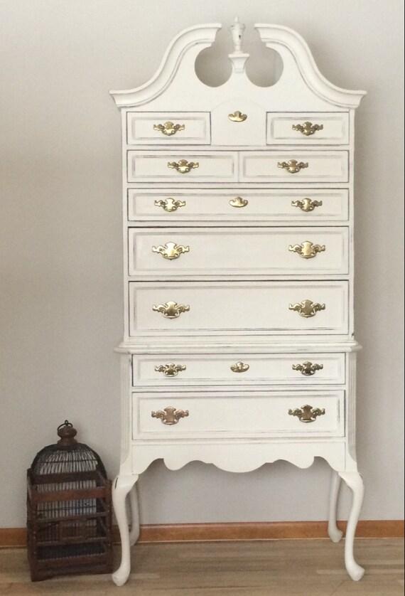Queen ann highboy dresser by lavanttehome on etsy - Queen anne bedroom furniture cherry ...