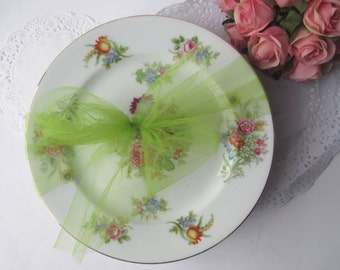 Vintage Aichi China Occupied Japan Floral Salad Plates Set of Four