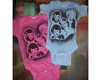 SALE Ready 2 Ship newborn size funny baby gift The Golden Girls infant creeper crawler snapsuit onepiece