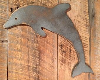 Wooden Dolphin - Indoor Beach Decoration