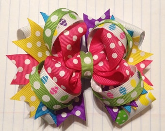 Easter Stacked Hair Bow