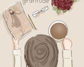 Start the Day with Gratitude - Gratitude - Art for Women - Quotes for Women  - Art for Women - Inspirational Art