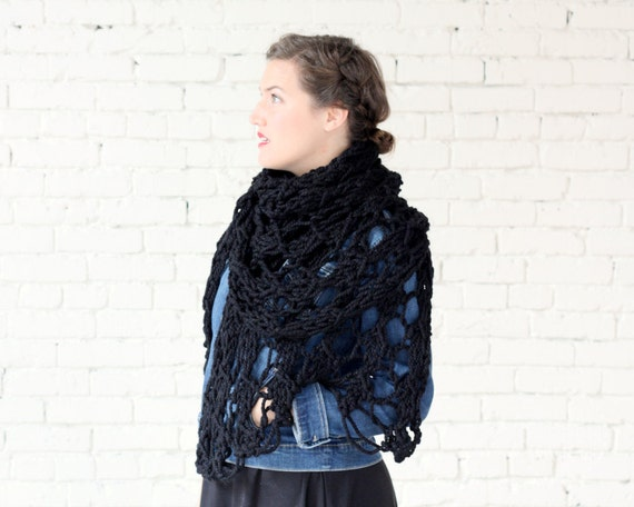 THE WISTERIA WRAP   24 Color Choices   Chunky Knit Oversized Winter Wrap Scarf