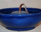 "Ceramic Cat Drinking Fountain, Pet Fountain,Food safe - 9.75 Inch Diameter ""Ring Serene"""