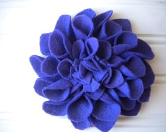 Felt Brooch in Purple