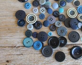 Vintage Button Collection- Blues