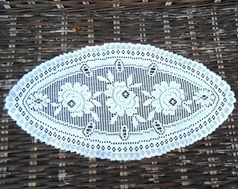 Small Vintage Dutch Embroidered Table Runner