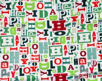 Happy Holiday Flannel pajama pants print lounge dorm made to order your choice size XS - 2X